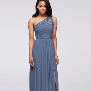 David's Bridal Bridesmaid Dress- One Shoulder